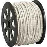 BOX Partners  2450 lbs. Twisted Polypropylene Rope, White, 600