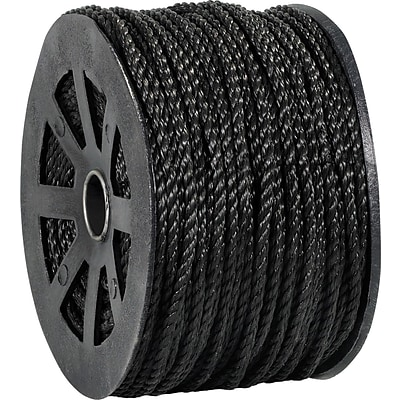 BOX Partners  2450 lbs. Twisted Polypropylene Rope, Black, 600