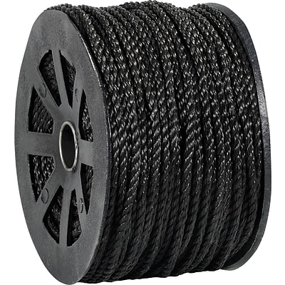 BOX Partners  1150 lbs. Twisted Polypropylene Rope, Black, 600