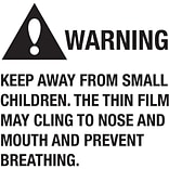 Tape Logic™ Warning Keep Away From Small Children Regulated Label, 2 x 2