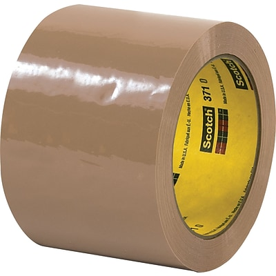 3M™ 3 x 110 yds. Tan Carton Sealing Tape 371, 24/Case