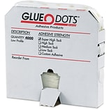 Glue Dots® 1/4 Super High Tack Glue Dots, Low Profile, 4000/Case