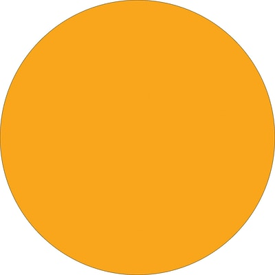 Tape Logic™ 4 Circle Inventory Label, Fluorescent Orange, 500/Roll