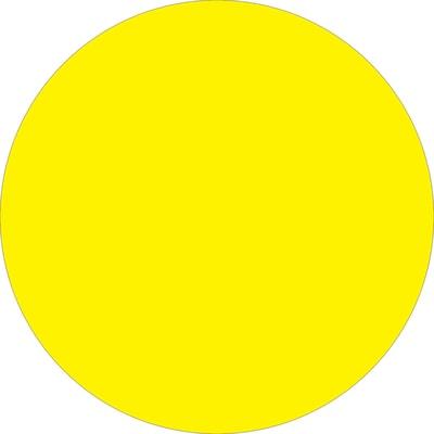 Tape Logic Circle Label Roll of 500 LegendQC Approval DL1254 Fluorescent Green 1 Diameter
