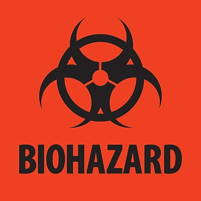 Tape Logic™ Biohazard Regulated Label, 4 x 4