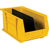 BOX Black Stack and Hang Bin Divider, 13 15/16 x 4 3/4, 6/Case