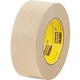 3M™ Scotch® 1 x 60 yds. x 6.3 mil Masking Tape 232, Tan, 12 Rolls