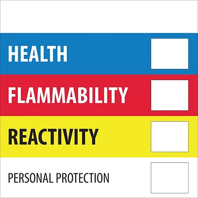 Tape Logic™ Health Flammability Reactivity Regulated Label, 2 x 2