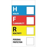 Tape Logic™ Health Flammability Reactivity Regulated Label, 1 x 2