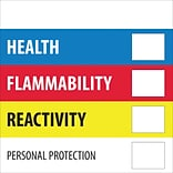 Tape Logic™ Health Flammability Reactivity Regulated Label, 4x 4