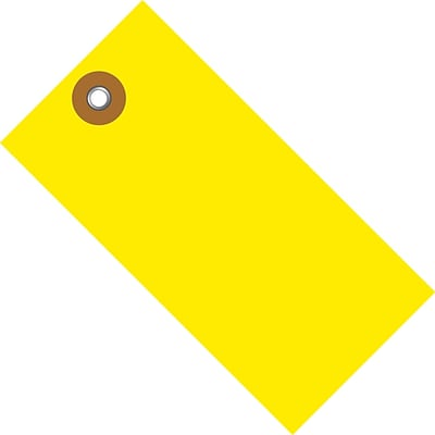 Tyvek® 5 1/4 x 2 5/8 Shipping Tag, Yellow, 100/Case