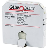 Glue Dots® 1/4 High Tack Glue Dots, Low Profile, 4000/Case