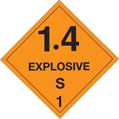 Tape Logic™ 1.4 Explosive S 1 D.O.T. Hazard Label, 4 x 4