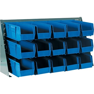 BOX Bench Rack Bin Organizer, 36 x 19, 12/Case