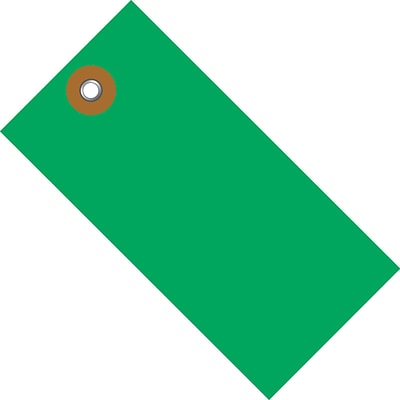 Tyvek® 5 1/4 x 2 5/8 Shipping Tag, Green, 100/Case