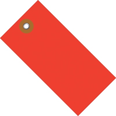Tyvek® 3 3/4 x 1 7/8 Shipping Tag, Red, 100/Case