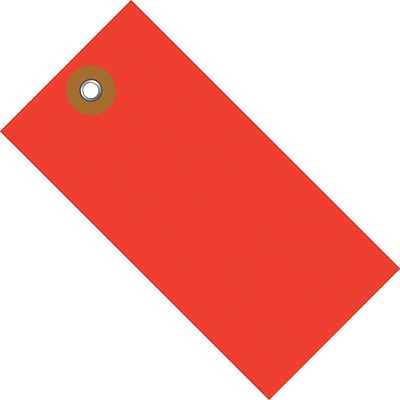 Tyvek® 2 3/4 x 1 3/8 Shipping Tag, Red, 100/Case