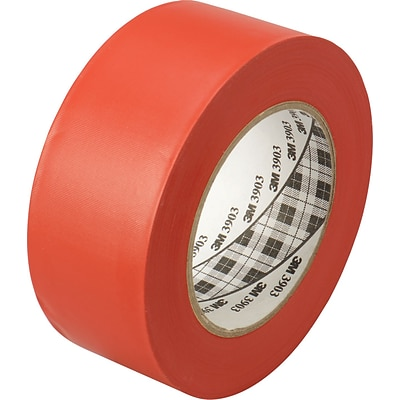 3M™ 2 x 50 yds. Vinyl Duct Tape 3903, Red, 24/Case
