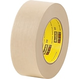 3M™ Scotch® 1/4 x 60 yds. x 6.3 mil Masking Tape 232, Tan, 144 Rolls