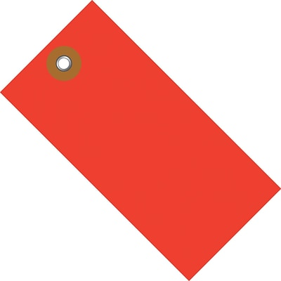 Tyvek® 5 3/4 x 2 7/8 Shipping Tag, Red, 100/Case