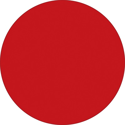 Tape Logic™ 1 Circle Inventory Label, Red, 500/Roll