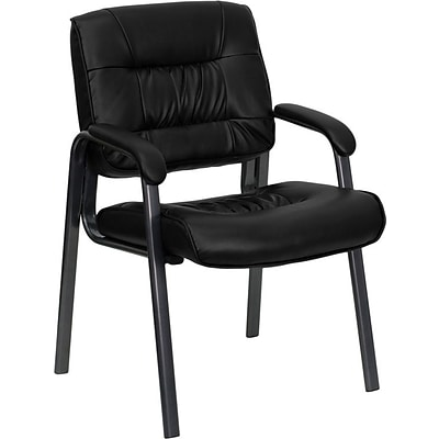 Flash Furniture Mid Back Leather Executive Side Chair, Black