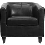 Flash Furniture Leather Office Guest Chair, Black