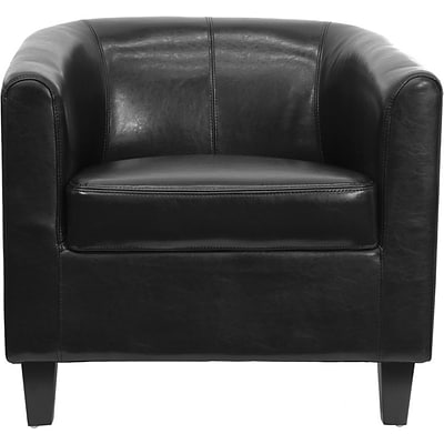 Flash Furniture Leather Office Guest Chair Black