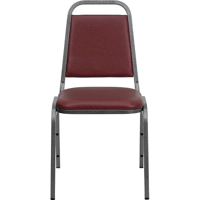 Flash Furniture HERCULES™ 18H Vinyl Trapezoidal Back Banquet Chair, Burgundy, 4/Pack