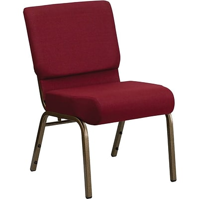 Flash Furniture HERCULES™ Fabric Stacking Church Chair With 4T Seat, Burgundy