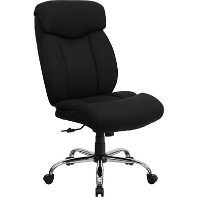 Flash Furniture HERCULES™ Big and Tall Fabric Office Chair Without Arms, Black