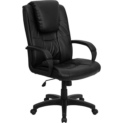 Flash Furniture High Back Leather Swivel Executive Office Chair, Black