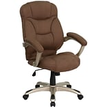 Flash Furniture High Back Micro Fiber Contemporary Office Chair, Brown