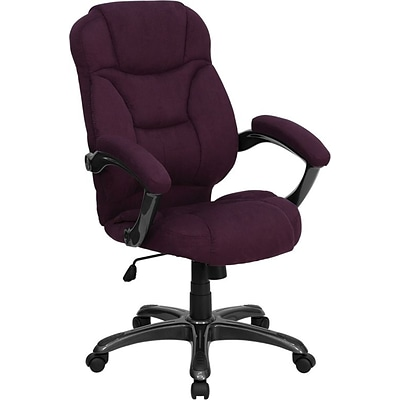 Flash Furniture High Back Micro Fiber Contemporary Office Chair, Grape