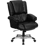 Flash Furniture High-Back LeatherSoft Executive Chair, Fixed Arms, Black (GO958BK)