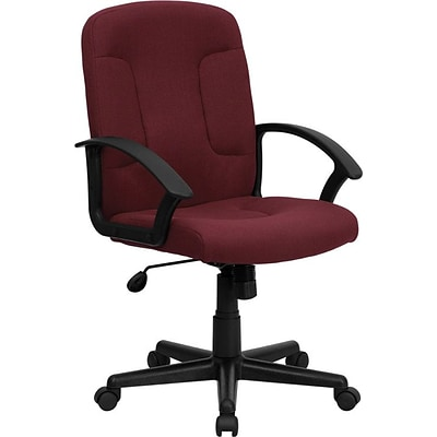 Flash Furniture Mid Back Fabric Task and Computer Chair, Burgundy