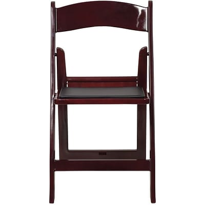 Flash Furniture HERCULES™ Vinyl Armless Folding Chair, Red Mahogany, 4/Pack