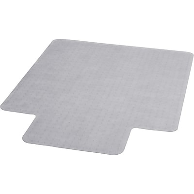 Flash Furniture Vinyl Carpet Chairmat With Lip, 36 x 48, Clear