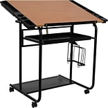 Flash Furniture 30 x 24 Melamine Adjustable Drawing & Drafting Table w/Black Frame, Laminate