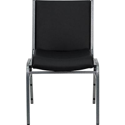 Flash Furniture HERCULES™ Vinyl Heavy Duty Stack Chair, Black