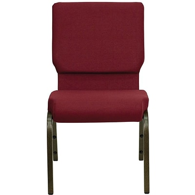 Flash Furniture HERCULES™ Fabric Stacking Church Chair With 4 1/4T Seat, Gold Vein