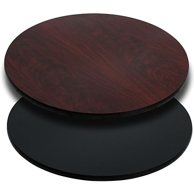 Flash Furniture 24 Laminate Round Table Top, Black/Mahogany