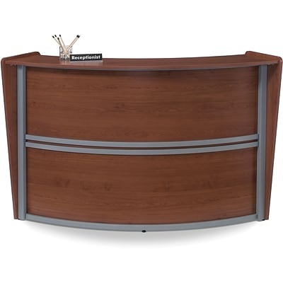 OFM Marque Single-Unit Reception Station, Cherry