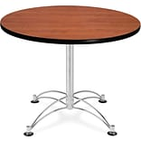OFM 29 1/2 x 36 x 36 Round Laminate Multi-Purpose Table, Cherry