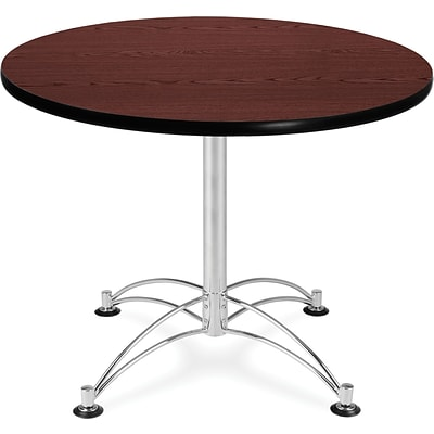 OFM 29 1/2 x 36 x 36 Round Laminate Multi-Purpose Table, Mahogany