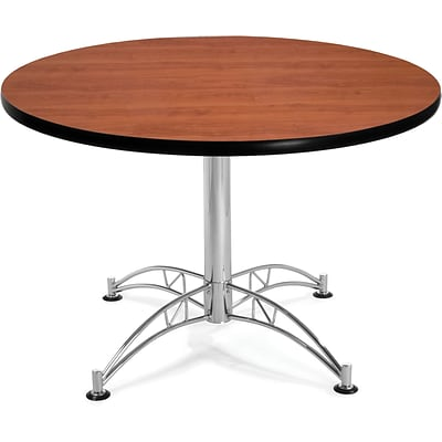 OFM 29 1/2 x 42 1/4 x 42 1/4 Round Laminate Multi-Purpose Table, Cherry
