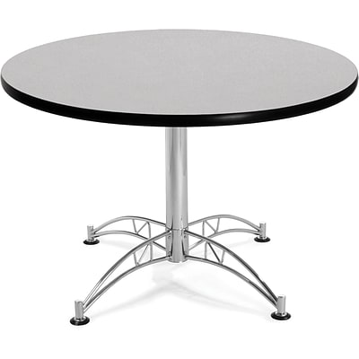 OFM 29 1/2 x 42 1/4 x 42 1/4 Round Laminate Multi-Purpose Table, Gray Nebula