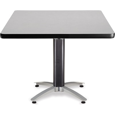 OFM 29 1/2 x 42 x 42 Square Laminate Mesh Base Multi-Purpose Table, Gray Nebula