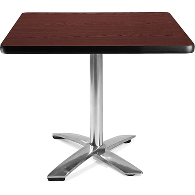 OFM 29 1/2 x 35 3/4 x 35 3/4 Square Laminate Flip-Top Multi-Purpose Table, Mahogany