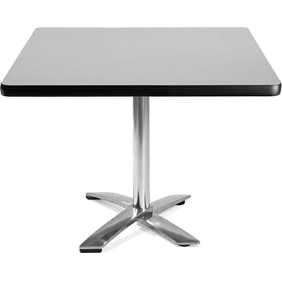 OFM 29 1/2 x 42 x 42 Square Laminate Flip-Top Multi-Purpose Table, Gray Nebula